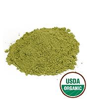 Certified organic Centella asiatica herb powder